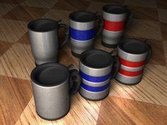 Travel Mugs Cup 3D Model - 3D Model