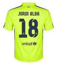 3193cdd7c31 14-15 Football Shirt Barcelona Cheap Jordi Alba #18 Away Third Green jersey  14-15 FCB Cheap Jordi Alba #18 Away Third Green jerseys cheap FCB jerseys  [151] ...