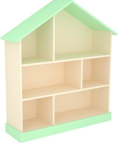 Домик-стеллаж для игрушек зеленый