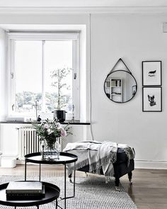Black and white interior style lounge | @andwhatelse
