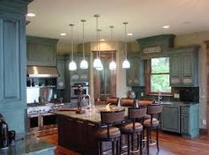 Image Result For Distressed Kitchen Cabinet Colors