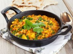 A sweet and spicy pumpkin and spinach dhal is a great mid week curry to satisfy the lovers of Indian cuisine. 1 small red onion, peeled and thinly sliced. Vegetable Recipes, Vegetarian Recipes, Cooking Recipes, Healthy Recipes, Mulligatawny, Dal Recipe, Indian Food Recipes, Ethnic Recipes, Daily Meals
