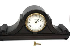 Antique Ansonia Wooden Mantle Clock Eight by CreekLifeTreasures #Ansonia #Mantle #Clock #oldclock