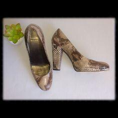 "Snakeskin Heels 4"" heels. Super comfortable! Like new, no scratches or visible flaws. Stuart Weitzman Shoes Heels"