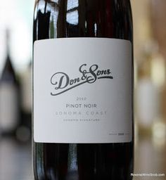 Don & Sons Sonoma Signature Pinot Noir 2008 to 2011 Vertical Tasting  - Consistently Delicious. BULK BUY!  http://www.reversewinesnob.com/2013/07/don-sons-sonoma-signature-pinot-noir.html #winelover