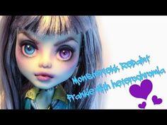 Monster High Doll Repaint Timelapse #1 Frankie By Teknova - YouTube