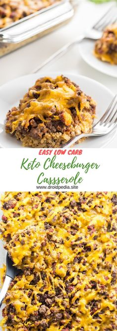 EASY LOW CARB KETO CHEESEBURGER CASSEROLE #maincourse #easy #lowcarb #keto #cheeseburger #casserole