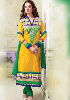 Phulkari Long Chanderi Designer Suits http://alicolors.com/index.php?route=product/category&path=102