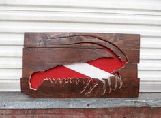 Rustic Reclaimed Wood Spiny Lobster Cutout / Custom by BobsBuilds  www.etsy.com/shop/bobsbuilds    #woodworking #woodwork #reclaimedwood #recycledwood #palletwood #recycledskateboards #beachhomedecor #diy #palletdiy #palletfurniture #woodhomedecor #skateb