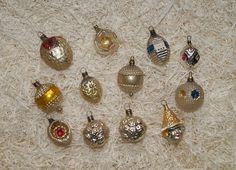 12 antique miniature German Lauscha glass ornaments   (# 6967)