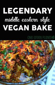 Vegan Legendary Middle Eastern Style Vegan Bake http://onegr.pl/1pMym8v #vegetarian #recipe #vegan #recipes #healthy