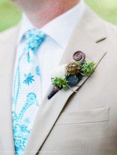 Garden Party wedding at the NC Arboretum, Asheville,NC. Florals by Flowers by Larry, Tie by Lilly Pulitzer and photography by Rachael McIntosh Photography.