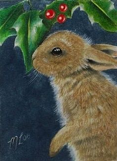 ACEO OE Giclee Print Bunny Rabbit  Melody Lea by MelodyLeaLamb, $6.25
