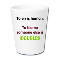 cute tennis-themed gift #funny quotes #doubles #tennis