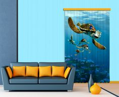 Disney Finding Nemo Window Curtain By WallandMore. Finding Nemo Collection.