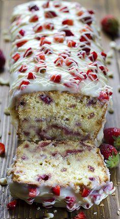 Strawberry Pound Cak