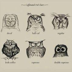 Coffee owlism ~ I love owls and coffee...perfect combo IMO!!