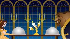 """This week's Disney Doodle was inspired by the stars of the 1991 film """"Beauty & The Beast,"""" Belle and Beast."""