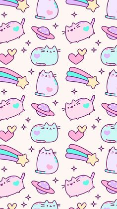 Ideas cats wallpaper pusheen for 2019 Wallpaper Gatos, Unicornios Wallpaper, Cute Pastel Wallpaper, Kawaii Wallpaper, Cute Wallpaper Backgrounds, Tumblr Wallpaper, Chat Pusheen, Pusheen Love, Pusheen Unicorn