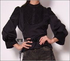 Black Lace Cotton Balloon Sleeves Shirt Blouse - Black Lace Cotton Balloon Sleeves Shirt *Please drop us a msg if you want to suscribe to our news letter.