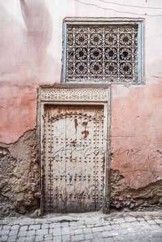 Pink in Marrakech, Morocco by Paulina Arcklin Moroccan Colors, Moroccan Style, Ethnic Style, Moroccan Decor, Old Doors, Windows And Doors, Ville Rose, Moorish, Arabesque