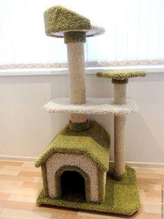 Plastic Milk Crates, Cat Tree Designs, Diy Cat Tree, Cat Hacks, Cat Towers, Wood Creations, Cat Furniture, Animals And Pets, Diy And Crafts