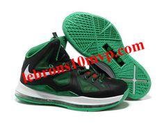 Nike Zoom Lebron 10(X) Shoes Black/Green/White
