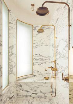 marble & brass | maddux creative - marble bathroom yessss