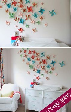 Diy projects for kids room wall art for kids room home interior design pictures dubai . diy projects for kids room wall art Kids Room Wall Art, Room Wall Decor, Diy Wall Art, Room Kids, Diy Wand, Origami Art Mural, Mur Diy, Diy Projects For Kids, Art Projects
