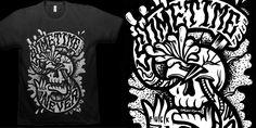 """SOMETIME NEVER"" t-shirt design by C A T S N E E Z E"