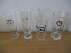 Four original glasses: 2 x Leeuw 1 x Grolsch; 1x Koppelpoort Amersfoort,Clean-up