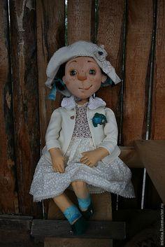 """Купить Авторская кукла """"Ада"""" - бежевый, большая кукла, мягкая игрушка, авторская работа"""