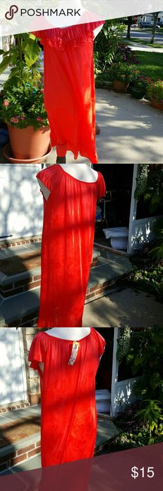 NWT Red rose hot mama nightgown L Super pretty to the size measuring over 30 inches in length and 18 inches under the arms. Medium to lightweight nylon Intimates & Sleepwear Pajamas