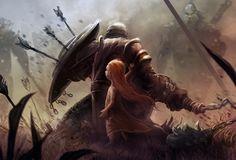 Warden by Matt Forsyth Dark Fantasy Art, Fantasy Artwork, Dark Art, Fantasy Character Design, Character Art, Fantasy Inspiration, Character Inspiration, Armadura Medieval, Knight Art