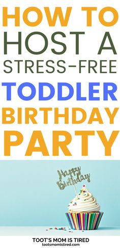 How to Host a Stress-Free Toddler Birthday Party | How to throw a birthday party for a toddler, easy birthday party ideas for one year olds, two year olds, three year olds. #toddlers #parenting Party Activities, Toddler Activities, Two Years Old Activities, Tired Mom, Three Year Olds, Toot, Stress Free, Parenting Advice, Toddlers