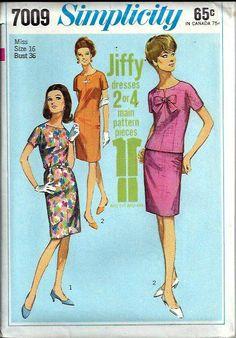 VTG Simplicity 7009 Misses Jiffy Dress Top by DawnsDesignBoutique, $9.99