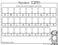 Alphabet Stamping Activity (from Miss Kindergarten):