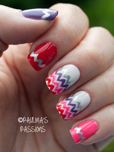 Love those nails! Colorful.