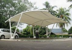 Over the years, TI Tensile Structures has been working hard to advance every skill and knowledge we have when it comes to tensile membrane structure. It has been our pride and joy that we are teamed with well-versed architects and engineers who are working closely with TI Membrane Sdn Bhd as a whole, honing each other's mastery to equip us with any challenges we may face along the way. Garden Canopy, Garden Gazebo, Canopy Tent, Membrane Structure, Shade Structure, Carport Shade, Car Shed, Roof Cladding, Rooftop Terrace Design