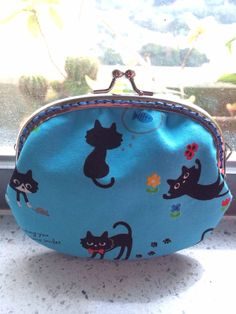 Medium Handmade Coin Purse - Little Black Cats on Etsy, $199.04 HKD