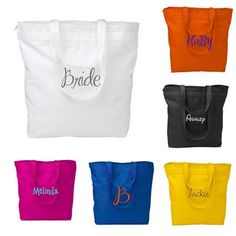 Personalized Zippered Tote Bag Bridesmaid by PersonalizedGiftsbyJ
