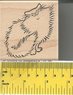 """""""Fluffy Cat"""" Rubber Stamp by Stampabilities"""
