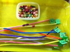 Put the number of beads on each pipe #juniorscholars