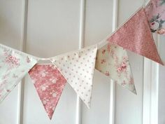 Pastel Shabby Chic Fabric Banners Bunting Garland by BerryAlaMode Cumpleaños Shabby Chic, Shabby Chic Bunting, Shabby Chic Stoff, Shabby Chic Fabric, Vintage Bunting, Fabric Garland, Fabric Bunting, Bunting Garland, Fabric Banners