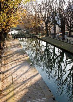 Paris, Canal Saint-Martin en automne