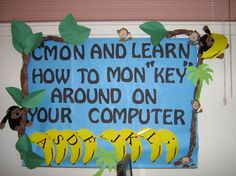 Finally - a bulletin board idea for elementary computer lab!