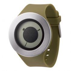 Dezeen Watch Store: Sunstich by Michael Young Cool Watches, Watches For Men, Dezeen Watch Store, Digital Watch, Fashion Watches, Industrial Design, Mens Fashion, Silver, Black