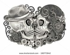 Day of dead couple