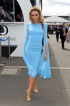 Nadia Bartel Photos Photos - Nadia Bartel poses at the Lavazza Marquee on Melbourne Cup Day at Flemington Racecourse on November 1, 2016 in Melbourne, Australia. - Celebrities Attend Melbourne Cup Day