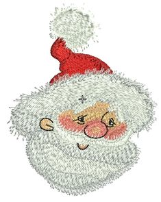 Kind Santa 3 machine embroidery design. Machine embroidery design. www.embroideres.com #Christmas #winter #holiday #SantaClaus #beige #blushing #kind #embroidery #embroideres